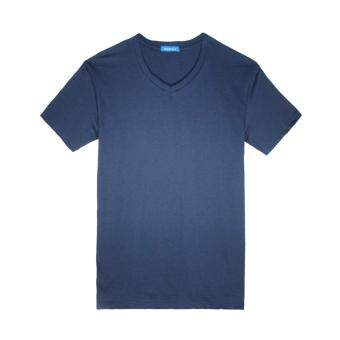 Harga F.O.S NAVY & NAVY MEN BASIC NAVY BLUE V-NECK TEE