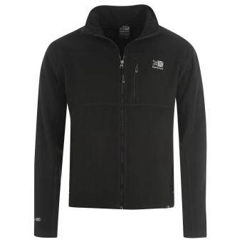 Harga Karrimor Mens Fleece Warm Long Sleeve Full Zip Outdoors Jacket Top Black