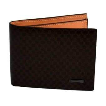 Harga Men Money Wallet Pockets Wallet Purse Cards ID Clutch Bifold Wallet Dark Brown