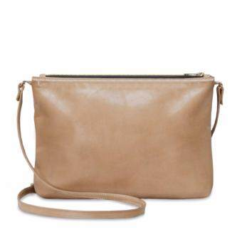 Harga Latinas Genuine Leather Casual Sling Bag (Beige)