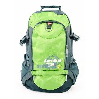 Harga Aeroline 35L Hiking Outdoor Travel Camping Backpack Green