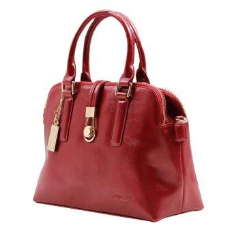 Harga Alfio Raldo LB-50614 Drawstring Top-Handle Bag Maroon Leather