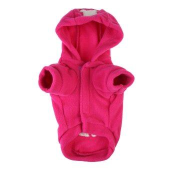 Harga Cute Dog Pet Cat Puppy Clothes Cartoon Hoodie Sweater Coat ApparelRed XS