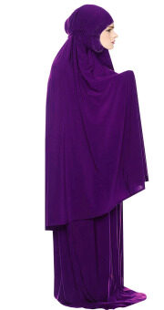 Harga Dhijab Shop Isma Lycra Telekung Set Purple