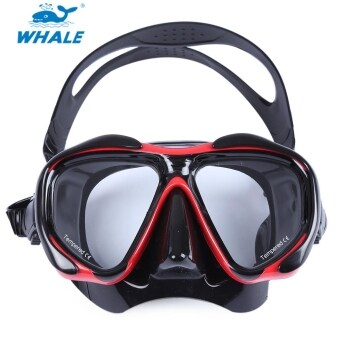Harga MiniCar WHALE Professional Scuba Hyperopia Myopia Diving Swimming Mask Goggle Red(Color:Red)