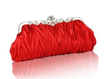 Harga The women Silk Cocktail Evening Handbags/ Clutches in Gorgeous Silk More Colors Available in red