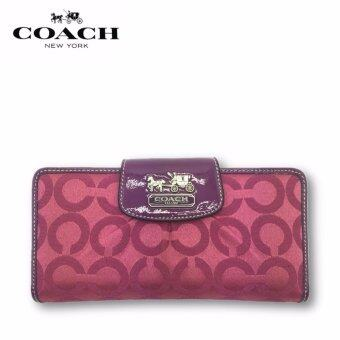 Harga Coach F41986 Madison Op Art Slim Envelope Wallet (Rose Pink)
