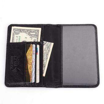 Harga Leather Passport Wallet + Top Grain Genuine Cow Leather + Leather Passport Cover+ RFID Protection Mens Wallet