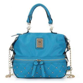 Harga Kardashian Kollection Semi Quilted Design Shoulder Bags (Blue)