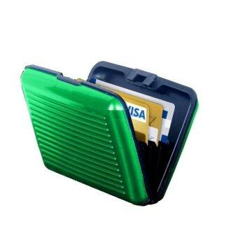 Harga ALUMA Security Wallet Credit Card Money ID Holder (GREEN)