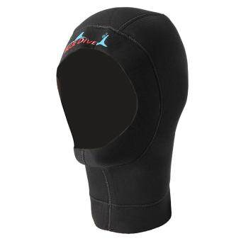 Harga Black 3mm Neoprene Scuba Water Sport Mask Diving Hat Swim Hood Neck Cover Cap M
