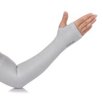 Harga Aonijie E4039 Soft Cool Compression Arm Sleeve UPF50+ With Finger Hole Grey For Outdoor Sport