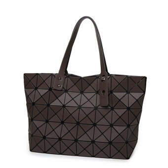 Harga Miyake Fashion Handbags Shoulder Bag Lingge Matt Folded Cube Bag Brown