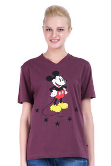 Harga Disney Mickey MIC-MT-968 Purple Unisex Short Sleeve Tee