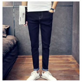 Harga Pudding Men's jeans Haren pants feet Black