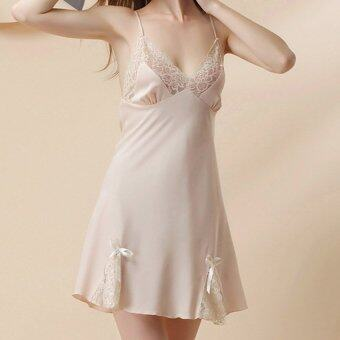 Harga Lingerie Lace Nightgown (Champagne Gold)