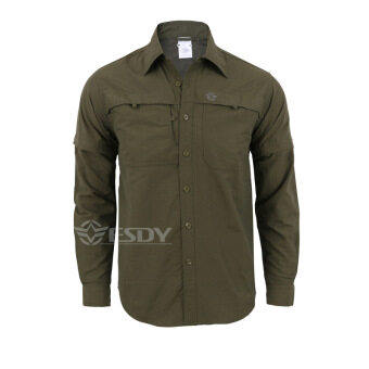Harga Army Men's Summer Tactical Shirt Quick Dry Shirt Removable Outdoor Leisure Breathable Military Shirt