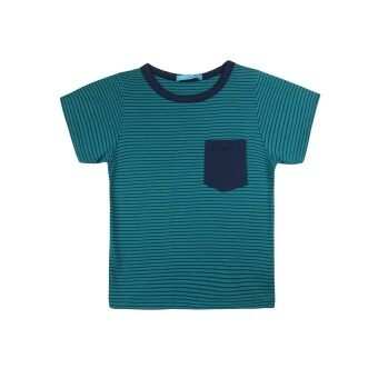 Harga F.O.S NAVY & NAVY BOY BASIC GREEN STRIPED TEE