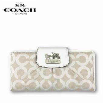 Harga Coach F41986 Madison Op Art Slim Envelope Wallet (White)