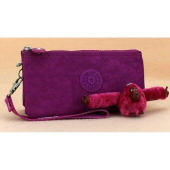 Harga Kipling Pouch / Purse / Travel Bag / Christmas Gift / New Year Gift / Birthday Gift / Kipling [include furry Kipling monkey key ring] - Wine Purple