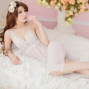 Harga MeiNiang Brand Lingerie Sexy nightdress transparent gauze dress suit size multi-color temptation trade 7018