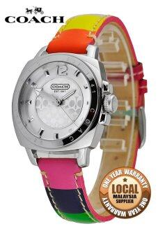 Harga Coach 14501545 Leather Strap Watch (Multicolor)
