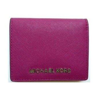Harga Michael Kors Jet Set Flap Card Holder(Deep Pink)