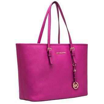 Harga Michael Kors Jet Set Top Zip Multifunction Large Tote Bag - Fuschia Pink