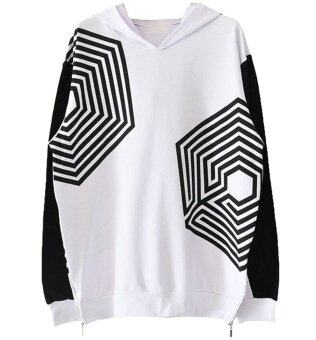 Harga EXO Overdose Hooded Sweater Korea Seoul Concert Sweater XL (Black)