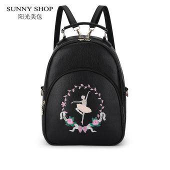 Harga SUNNY SHOP 2017 New Preppy Style Girls School Backpack Cartoon Ballet girl Embroidery Backpack Teenage Girls Bag