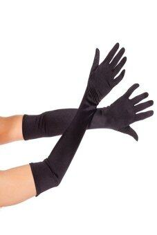 Harga Okdeals Nice Satin Party Long Gloves Black