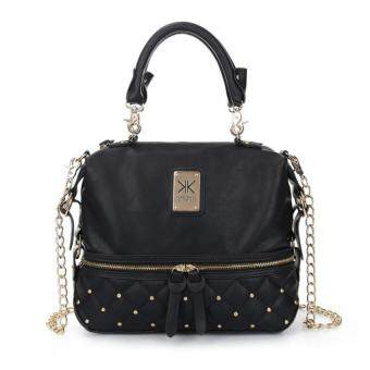 Harga Kardashian Kollection Semi Quilted Design Shoulder Bags (Black)