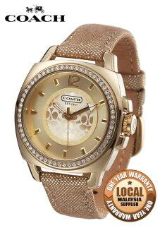 Harga Coach Boyfriend Trendy Shiny Watch Gold 14501363