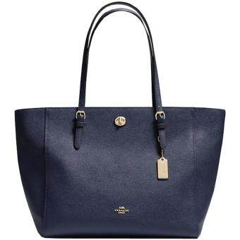 Harga Coach Turnlock Tote In Crossgrain Leather