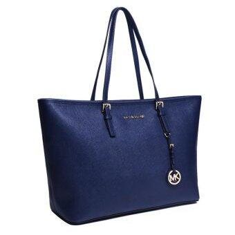 Harga Michael Kors Jet Set Top Zip Multifunction Large Tote Bag - Navy