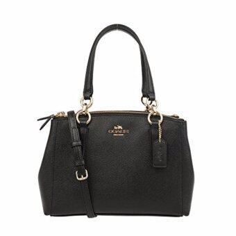 Harga New Coach Christie Carryall In Crossgrain Leather Black