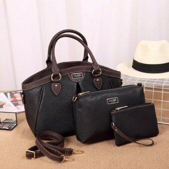 Harga LA POLO LA 20714 Cross Body & Shoulder Bags Set 3 IN 1 (BLACK)