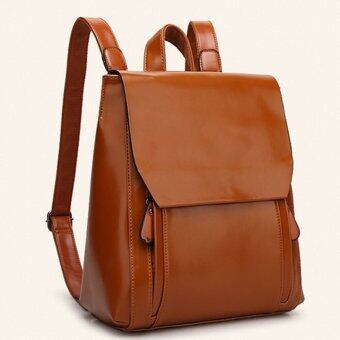 Harga 2016 Famous Brand Mansur Gavriel Women Real Leather Backpack Lady Genuine Leather Backpack Leather Schoolbag - Brown