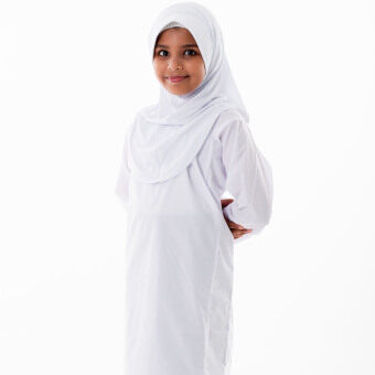 Harga Outpost Primary School Uniform White Baju Kurung x 2 units