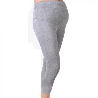 Harga New Cropped Very Comfortable Maternity Cotton Leggings 3/4 Length Pregnancy (Grey)