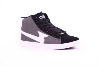Harga MATARAZO JYL068 Men Casual Hi-Cut Shoes Grey White