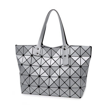 Harga Miyake Fashion Handbags Shoulder Bag Lingge Matt Folded Cube Bag Sliver