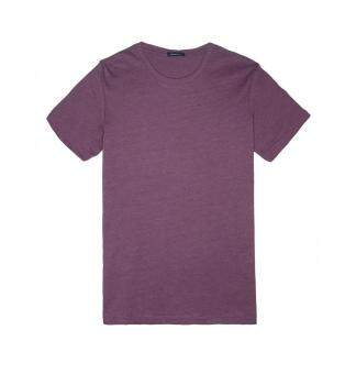 Harga F.O.S NAVY & NAVY MEN'S BASIC MELANGE PURPLE TEE