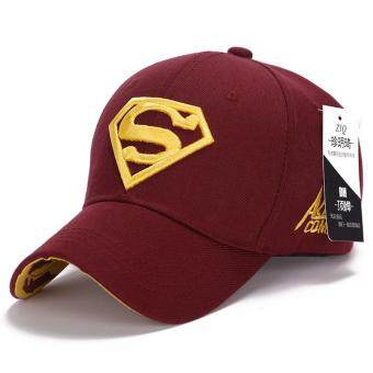 Harga Korean new sun hat male ladies couple Superman baseball cap fashion golf hat(Red-yellow)