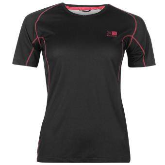 Harga Karrimor Womens Aspen Tech T Shirt Ladies Short Sleeves Tee Top Charcoal