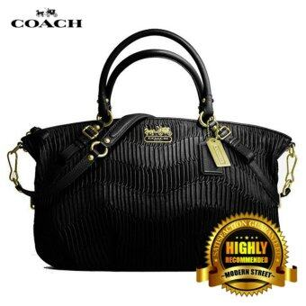 Harga Coach 18620 Madison Gathered Leather Sophia (Black)