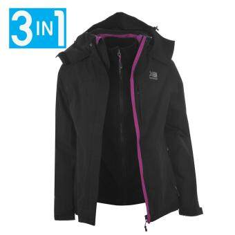 Harga Karrimor Womens 3in1 Jacket Ladies Hooded Fleece Mesh Lining Black