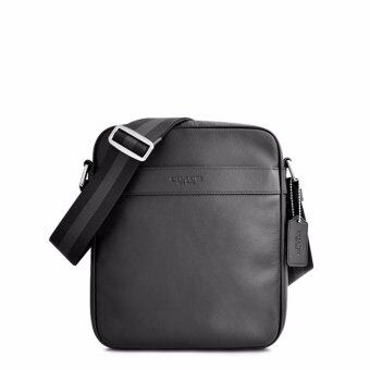 Harga Coach F54782 Charles Flight Bag in Smooth Leather in Black