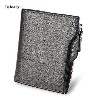 Harga Baborry Stylish Men Business Wallet with Detachable Card Photo Holder
