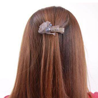 Harga AFGY FGA 203G 70304 Hair Clip with Crystal Glass Jewel Accents (Length 6.5cm, Grey)